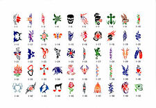 AIRBRUSH TATTOO STENCILS - BOOK 1 - 100 SELF ADHESIVE STENCILS