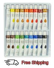18 Color Acrylic Paint Set 12 ml Tubes Artist Draw Painting Rainbow Pigment
