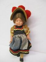 Vintage Antique 8 inch Celluloid Doll Germany Painted Face Jointed Doll