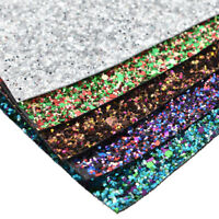 Glitter Synthetic Leather Fabric Bling bling A4 Sheet DIY Material Sewing Crafts