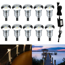 10pcs Warm White 12V Outdoor Driveway Path Garden Landscape LED Inground Lights