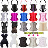 Pure Steel Busk Boned Corset Lace Up Underbust Waist Cincher Bustier PLUS Shaper