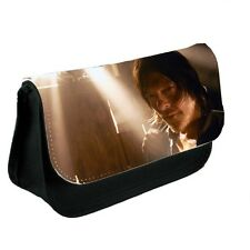 TWD Daryl Dixon, The Walking Dead Black Canvas Pencil Case, Make-Up Bag
