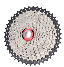 BOLANY MTB 9 Speed Cassete 11-42T Silver/Black Mountain Bike Cassette Freewheel