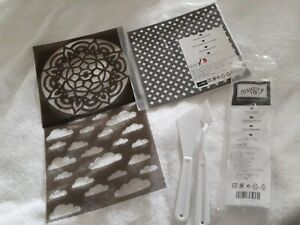 Stampin' Up Pattern Party Decorative Masks + Pallet Knives *UNUSED* 5pcs