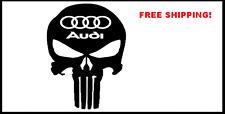 Audi Punisher Skull Decal Sticker a4 a8 car suv quattro