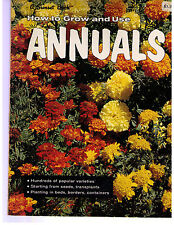 Vintage 1972~SUNSET BOOK~How to GROW & USE ANNUALS