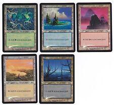 MTG ARENA URZAS SAGA FOIL 5 CARD LAND PROMOS SET NM/M NEVER PLAYED FREE SHIP
