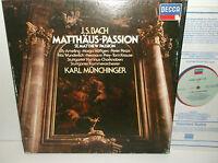 414 057-1 Bach St Matthew Passion Ely Ameling / Munchinger 4LP Box Set