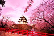 walL stickers-trompe l'oeil - paesaggio giapponese- adesivo per muro-- arredo