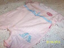 Zapf BABY ANNABELL Doll NEW Gorgeous S/Sleeve Pink Short Leg Romper