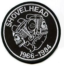 HOG BIKER EMBROIDERED FLH SHOVEL HEAD MOTORCYCLE SHOVELHEAD MOTORCYCLE red PATCH