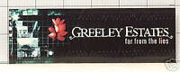 GREELEY ESTATES Far From the Lies RARE PROMO STICKER DQ
