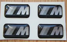 4 BMW Black Silver M Tech Alloy steering Wheel sticker emblem M3 M5 E90 E92 E46