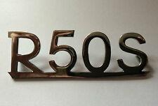"BMW ""R50S"" chrome badge"