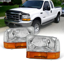 1999-2004 Ford F250 F350 F450 Superduty Excursion Headlights w/Amber Bumper Lamp