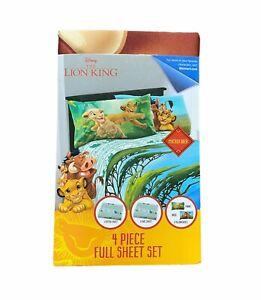 Full 4 Piece Sheet Set Disney Lion Guard King Microfiber New Flat Fitted