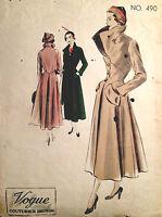 1950s Vintage VOGUE Sewing Pattern B38 COAT (1387)