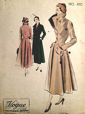 1950s Vintage VOGUE Sewing Pattern B38 COAT (1387)