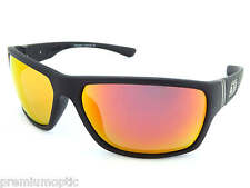 Dirty Dog Storm Mens Polarised Sunglasses Satin Black / Red Fusion Mirror 53345