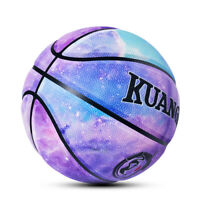 Kuangmi Star Night Basketball Ball Size 7 29.5 PU Leather Indoor Outdoor