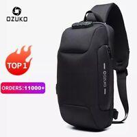 🔥 OZUKO 2021 New Multifunction Crossbody Bag for Men