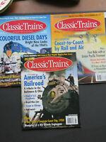 3 Classic Trains Magazines~ Spring, Summer, Winter 2003