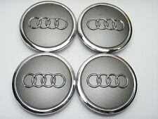 4x Audi Aleación De Plata Centro De Rueda Caps 68MM Ajuste: A1 A2 A3 A4 A5 A6 TT RS Q3 Q7