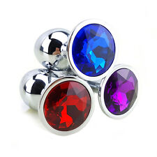 Metal-Anal-Butt-Massagers-Anal-Sex-Plug-Toys-Women-Men-Toy-Crystal Jewelry Beads