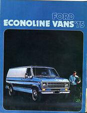 1975 Ford Econoline Vans Brochure VGEX 011116jhe