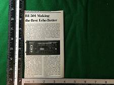 Roland RE-501 chorus echo product press release from 1980