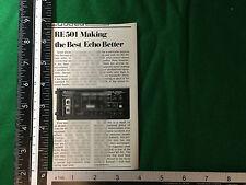 Producto de eco Roland RE-501 Chorus comunicado de prensa de 1980