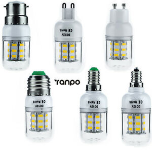 E27 E12 E26 E14 G9 GU10 B22 7W LED Corn Bulb Dimmable Light 5730 SMD Lamp Bright