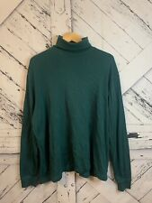 Green Scandia Woods Running River Turtleneck Size XL
