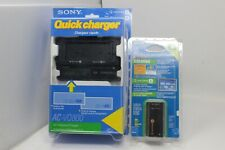 Genuine Sony AC-VQ800 Adapter/Charger For InfoLithium L or M Batteries & Battery