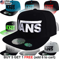 Vans Off The Wall Snap Back Cap Hat Logo Classic Patch Skate Style Skateboard