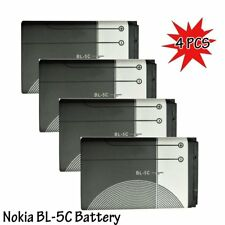 4 PC Replacement Battery Lithium Full Capacity 1020mAh 3.7V for Nokia BL-5C HM2