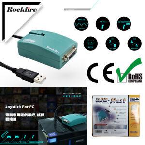 Rockfire 15 Pin Joystick To USB Adapter MIDI Game Nest Converter Black / Green