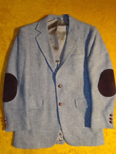 VINTAGE * MENS TWEED WOOL BLAZER ~ HERRINGBONE ~Size 36 37 38 R S 37R ~ Chest 40