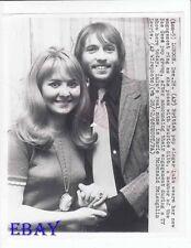 Lulu Maurice Gibb candid 1968 engagement VINTAGE Photo