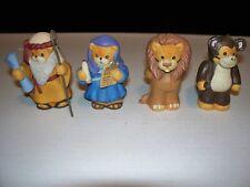 4 Noah'S Ark Lucy & Me Bears By Enesco Noah, Noah'S Wife, Lion & Monkey 1990