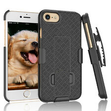 FOR IPHONE SE (2020) 7 8 SHELL HOLSTER BELT CLIP COMBO CASE COVER WITH KICKSTAND