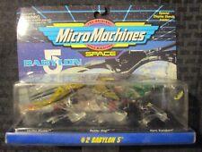 1995 Galoob BABYLON 5 Micro Machines #2 MOC C-7.5 Cruiser Raider & Transport