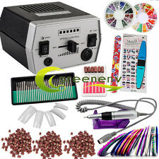 Professional Electric Nail File Drill Manicure Pedicure Machine Bits Tool Kit US