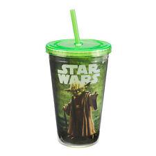 99314 Star Wars Yoda 18 oz Acrylic Travel Cup w/straw Movie Show Space Drink