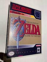 SUPER NINTENDO SNES LEGEND OF ZELDA LINK TO THE PAST  GAME + CASE BOX AUTHENTIC