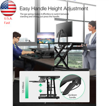 Home Office Adjustable Ergonomic Standing Desk Tabletop Workstation Sit Stand **