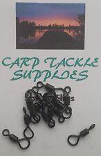 CARP FISHING BIG EYE ROLLING SWIVELS SIZE 12 - 25 Per Pack