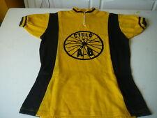 maillot de vélo vintage Oursport Cyclo A-B jaune et noir T 3