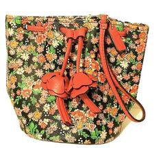 Coach Petal Wristlet Posey Cluster Drawstring Bag Bucket Mini Purse Floral EUC
